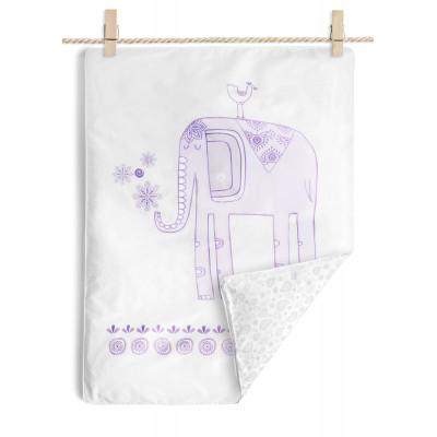 Ensemble de housse et couette L'éléphant (couleur lilas)